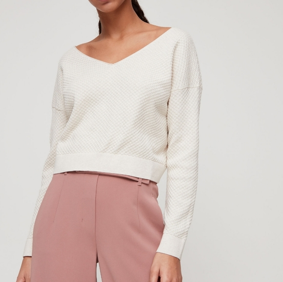 Babaton Lita cropped long sleeve sweater